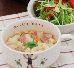 マカロニ野菜スープ