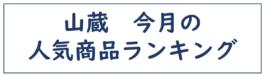 山蔵 今月の人気商品ランキング